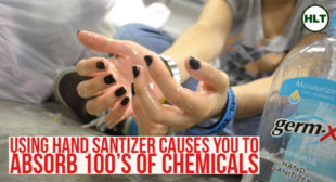 Using Hand Sanitizer Causes You to Absorb 100x's More Chemicals that Cause Disease, Infertility, Abnormalities
