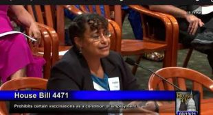 Dr. Christina Parks testimony for Michigan HB4471 Preventing Vaccines as Condition of Employment